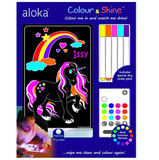 Brand new Aloka colour and shine unicorn multi coloured night light & remote
