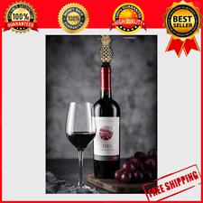 New listing Tapones de vino de piña, precioso tapón de almacenamiento de aleación de zinc