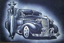"""Low rider Zoot suit cholo Mexican  Original Oil Painting Velvet 24""""X18 JM113"""
