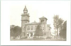 Warren, Arkansas RPPC Real Photo Postcard BRADLEY COUNTY COURT HOUSE c1950s
