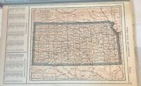 1914 Kansas & Kentucky Tennessee Maps, Named Railroads, Counties, Towns & More