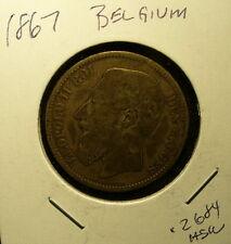 Silver Belgium 1867 Coin