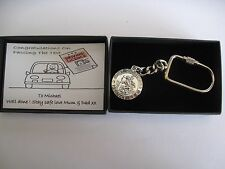 Personalised St Christopher Driving Test Congratulations Keyring Gift Boxed