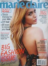 MILEY CYRUS March 2011 MARIE CLAIRE Magazine