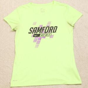 Nike Dri Fit Yellow Samford Just Do It Short Sleeve Crewneck T-Shirt Medium Y26