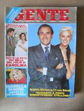 GENTE n°37 1987  Brigitte Nielsen Isabella BiaginI Carolina di Monaco [G237]
