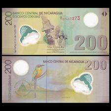 Nicaragua 200 Cordobas, 2007,  P-205, Polymer, UNC