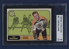 1968-69 O-Pee-Chee #11 Tom Williams KSA 7 NM Boston Bruins NICE!!