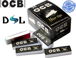OCB Roach Filter Tips Perforated For Easy Rolling - Cardboard Smoking Papers Box