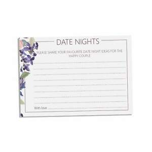 Purple  Date night cards, Pack of 25 cards, perfect for wedding reception or bri