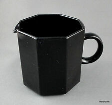 Arcoroc Creamer Jug Octime 3in Black Glass Octagon Retired 6oz France