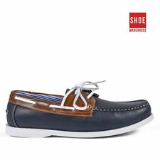 JM ALISTAIR Navy Mens Lace-up Casual Synthetic Shoes