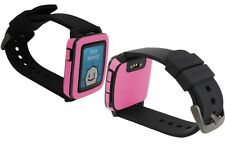 Skinomi Pink Carbon Fiber Skin+Clear Screen Protector for Pebble Time