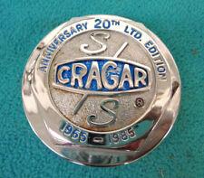 CRAGAR SS MAG WHEELS 20TH ANNIVERSARY CENTER CAP, SINGLE, W- RETAINER, NICE RARE
