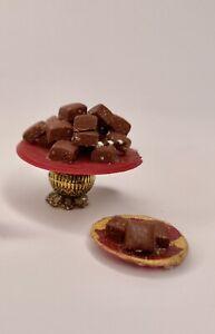Dollhouse Miniature 1:16 food, LUNDBY Size, VINTAGE 70's HANDMADE, Brownies