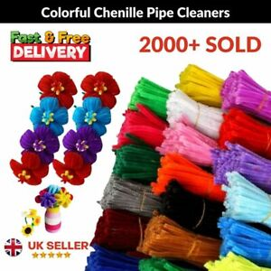 Pipe Cleaners Craft Assorted Color Chenille Craft Stem Bristle Bundles UK