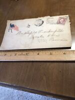 Vintage 1917 WWI Cover Envelope YMCA Flag Baltimore Md Postmark