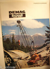 ✪altes original Prospekt / sales brochure Demag Richier Fahrzeugkrane