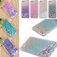 Liquid Glitter Quicksand Clear Acrylic soft Border Case Cover For iPhone 6S/7
