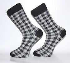 Haute Qualité Noir et Blanc Vérifié Chaussettes