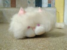 "1980 Vintage White Cat plush Bon Bon Wallace Berrie Co 9"""