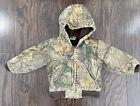 Vintage Carhartt Hooded Farm Work Canvas Work Jacket Youth Sz 2T Camouflage Camo