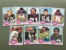 Lot cartes NFL Cleveland Browns Topps 1976 1980 1981 Football Américain