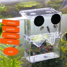 Acrylic Fish Tank Breeding Box Aquarium Double Guppies Hatching Incubator