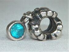 Pandora Sterling Silver ALE .925 Blue Topaz Flower Daisy Dangle Charm 790386TPP
