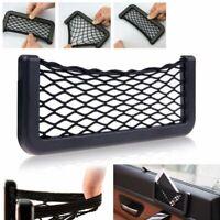 Universal Car Seat Side Back Net Mesh Storage Bag Phone Holder Pocket Organizer