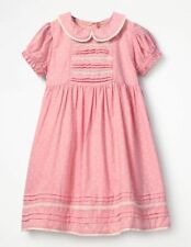 Mini Boden Printed Nostalgic Woven Dress Pink Age 7-8 Years