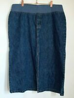 Maternity  Announcements Long Denim Skirt Womens Size Large L  (12-14)