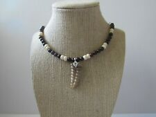 Rattlesnake Rattler Pendant Jasper Bone Necklace 925 Silver Snake Jewelry 932