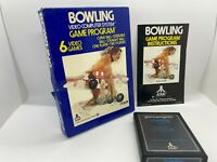 Bowling Atari 2600 Game Complete w/ Box & Manual Free Shipping