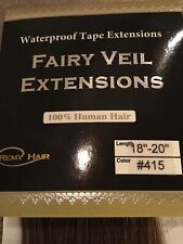 """Waterproof extentions tape-in 18-20"""" #415 10 piece 4"""" wide 100% human hair NEW"""