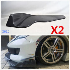 Winglet Type Style Carbon Fiber Look Front Bumper Lip Diffuser Splitters Canard
