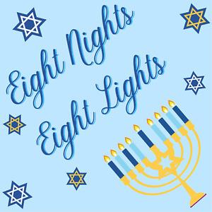 Eight Nights Eight Lights Sign or Door Hanger