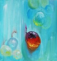 Oil Original Paintings Still Life on canvas size 12x12 inches Grape Reflection