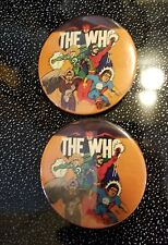 THE WHO BADGE BUTTON PIN entwistle daltrey townshend moon