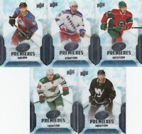 2016-17 UPPER DECK ICE PREMIERES  5 DIFFERENTS ROOKIES CARDS    LOT 91    a