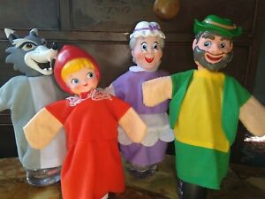 Yick Wah - Show Time - Little Red Riding Hood - Hand Puppets - Set of Four