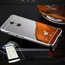 Pare-chocs en aluminium de 2 pièces argent + 0,3 H9 verre pour Sony Xperia