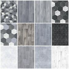 Heavy Feltback Quality Cushion Floor Vinyl Flooring Grey Kitchen Bathroom Lino
