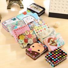 Metal Mini Tin Container Small Rectangle Cute Storage Box Case Pattern Organizer