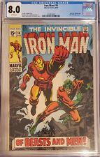 "Iron Man 16 CGC 8.0 1969 ""Of Beasts and Men"""