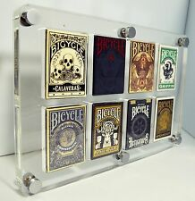 8 Decks Gamblers Warehouse Exclusive Lucite Card Case Made in USA