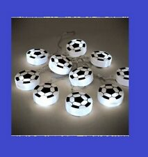 FOOTBALL DESIGN - SET OF 10 BATTERY OPERATED LED FOOTBALL STRING LIGHTS