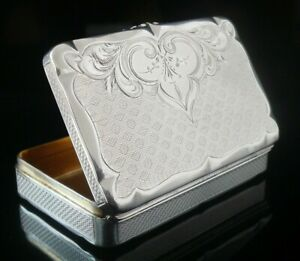 Immaculate American Antique Silver Snuff Box, Thomas Whartenby & Co, c.1850