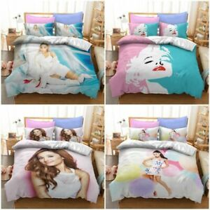 2pcs/3pcs Ariana Grande Singer Duvet Cover Bedding Set Single Double Bed Set