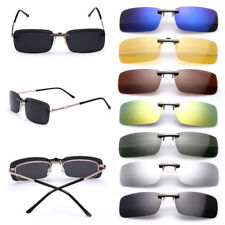 Polarized Sunglasses Clip On Driving Glasses Day Night Vision Lens Womens Mens